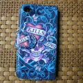 Ed Hardy KILLS Skull Flip leather Cases Holster Covers Skin for iPhone 4G/4S - Blue
