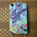 Ed Hardy Skull Eagle Flip leather Cases Holster Covers for iPhone 3G/3GS - Yellow