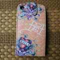 Ed Hardy Skull KILLS Flip leather Cases Holster Covers for iPhone 3G/3GS - Pink