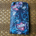 Ed Hardy Skull KILLS LOVE Flip leather Cases Holster Covers for iPhone 3G/3GS - Blue
