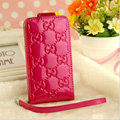 GUCCI leather Cases Luxury Holster Covers Skin for iPhone 5 - Rose