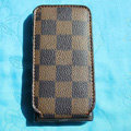 LOUIS VUITTON LV Flip leather Cases Holster Covers for iPhone 3G/3GS - Brown