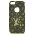 LOUIS VUITTON LV Luxury leather Cases Hard Back Covers Skin for iPhone 5 - Brown