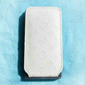 LV LOUIS VUITTON Flip leather Cases Holster Covers Skin for iPhone 3G/3GS - White