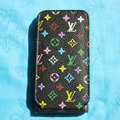 LV LOUIS VUITTON Flip leather Cases Holster Covers for iPhone 3G/3GS - Black