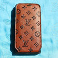 LV LOUIS VUITTON Flip leather Cases Holster Covers for iPhone 3G/3GS - Coffee