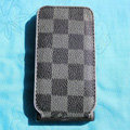 LV LOUIS VUITTON Flip leather Cases Holster Covers for iPhone 3G/3GS - Grey