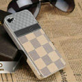 LV LOUIS VUITTON Ultrathin Metal edge Hard Back Cases Covers for iPhone 5 - Beige