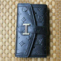 LV LOUIS VUITTON leather Cases Holster with Buckle Covers for iPhone 3G/3GS - Black