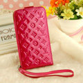 LV LOUIS VUITTON leather Cases Luxury Holster Covers Skin for iPhone 5 - Rose