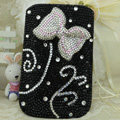 Luxury Bling Holster Covers Bow Crystal diamond Cases for iPhone 5 - Black