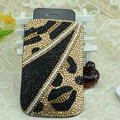 Luxury Bling Holster Covers Crystal diamond leather Cases for iPhone 5 - Gold
