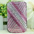 Luxury Bling Holster Covers diamond Crystal Leather Cases for iPhone 5 - Pink