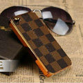 Luxury LV LOUIS VUITTON Ultrathin Metal edge Hard Back Cases Covers for iPhone 5 - Brown