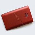 Matte Cases Hard Back Covers for LG Optimus L3 E400 - Red