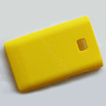 Matte Cases Hard Back Covers for LG Optimus L3 E400 - Yellow