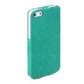 ROCK Eternal Series Flip leather Cases Holster Covers for iPhone 5 - Green