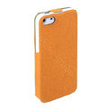 ROCK Eternal Series Flip leather Cases Holster Covers for iPhone 5 - Orange
