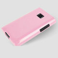 TPU Soft Silicone Cases Skin Covers for LG E400 Optimus L3 - Pink