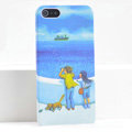 Ultrathin Matte Cases Lovers Hard Back Covers for iPhone 5 - Blue