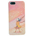 Ultrathin Matte Cases Pretty girl Hard Back Covers for iPhone 5 - Pink