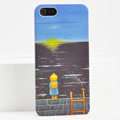 Ultrathin Matte Cases Sea girl Hard Back Covers for iPhone 5 - Black