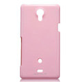 Nillkin Colorful Hard Cases Skin Covers for Sony Ericsson LT30p Xperia T - Pink (High transparent screen protector)