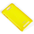 ROCK Colorful Glossy Cases Skin Covers for MI M1 MIUI MiOne - Yellow (High transparent screen protector)