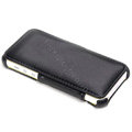 ROCK Dancing Series Side Flip Leather Cases Holster Covers for iPhone 5 - Black