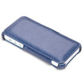 ROCK Dancing Series Side Flip Leather Cases Holster Covers for iPhone 5 - Blue