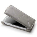 ROCK Flip leather Cases Holster Skin for Sony Ericsson LT26ii Xperia S - Gray