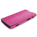 ROCK Side Flip leather Cases Holster Skin for Sony Ericsson LT28i Xperia ion - Rose