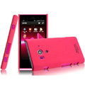 IMAK Ultrathin Matte Color Covers Hard Cases for Sony Ericsson LT26w Xperia acro S - Rose (High transparent screen protector)