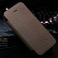Nillkin England Retro Leather Case Covers for iPhone 5 - Brown (High transparent screen protector)