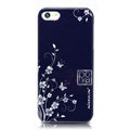 Nillkin Platinum Elegant Hard Cases Skin Covers for iPhone 5 - Butterfly Flower Blue