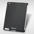 Nillkin Snow Gravel Matte Hard Cases Skin Covers for The new iPad - Black (High transparent screen protector)