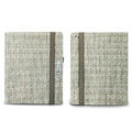 Nillkin Weave leather Cases Holster Covers for iPad 2 - Khaki (High transparent screen protector)
