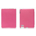 Nillkin leather Cases Holster Covers for iPad 2 - Pink (High transparent screen protector)