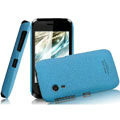 IMAK Cowboy Shell Quicksand Hard Cases Covers for Gionee C600 - Blue (High transparent screen protector)