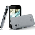 IMAK Cowboy Shell Quicksand Hard Cases Covers for Gionee C600 - Gray (High transparent screen protector)