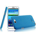 IMAK Cowboy Shell Quicksand Hard Cases Covers for Samsung N7100 GALAXY Note2 - Blue (High transparent screen protector)