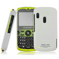 IMAK Ultrathin Matte Color Covers Hard Cases for Alcatel OT-800 Qta - White (High transparent screen protector)