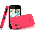 IMAK Ultrathin Matte Color Covers Hard Cases for Gionee C600 - Rose (High transparent screen protector)