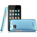 IMAK Ultrathin Matte Color Covers Hard Cases for Gionee GN205 - Blue (High transparent screen protector)