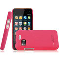IMAK Ultrathin Matte Color Covers Hard Cases for Gionee GN205 - Rose (High transparent screen protector)