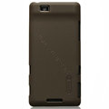 Nillkin Super Matte Hard Cases Skin Covers for Coolpad 9900 - Brown (High transparent screen protector)