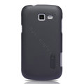Nillkin Super Matte Hard Cases Skin Covers for Samsung I699 GALAXY Trend - Black (High transparent screen protector)