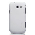 Nillkin Super Matte Hard Cases Skin Covers for Samsung I699 GALAXY Trend - White (High transparent screen protector)