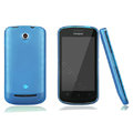 Nillkin Super Matte Rainbow Cases Skin Covers for Coolpad 5860 - Blue (High transparent screen protector)