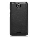 Nillkin leather Cases Holster Covers for Coolpad 9100 - Black (High transparent screen protector)